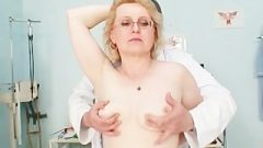 Blond Milf Wears Glasses And Get Milky Douche