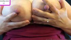 Lactating Massive Boob Milf Massive Nipples Pumps Breast Milk After Engorgement