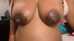 Juicy Dark Lactating Nipples On Preg Provocative Beauty