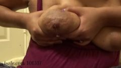 Squeezing My Engorged Milky Breasts Dry.