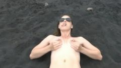 Squrting Breastmilk On The Beach Preggomilky.com
