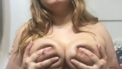 Massaging Milky Boobs With Oil