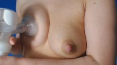 Pumping My Breasts And They Autodrip Milk.