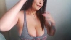 Enormous Lactating Boobs Of Gamer Girl