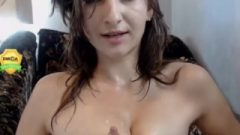 Self Nipple Suck By Barbie Spraying Milk On Her Own Face