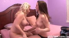 First Time Kissing Another Girl RAW Massive Erect Nipples