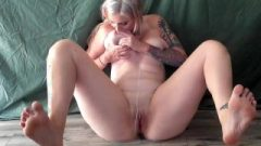 Self Blowing Lactating Golden-haired