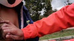 Lactating Latina Vixen In A Risky Lactation Play In Public