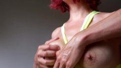 Oiled Lactating Boobs Massage