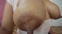She Wet The Milk Shirt, You Can See Her Areolas