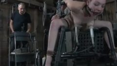 Sex Slave Roped Up And Smashed By Machines And Pumps